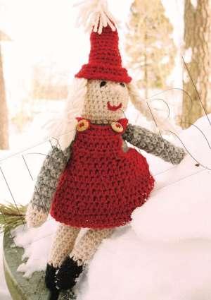 poupée noel crochetée