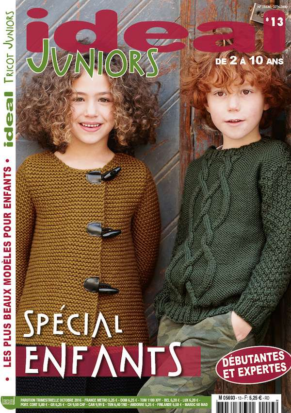 Magazine Ideal Tricot Juniors 13 couverture