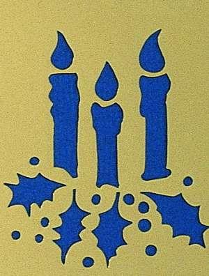"""Motif """"Trois bougies allumées"""""""