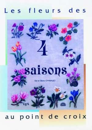 """Livre """"Les fleurs des 4 saisons au point de croix"""""""