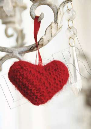 ideal crochet - coeur décoration noel