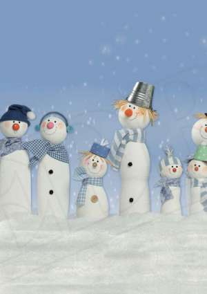 bricolage bonhomme de neige - Editions de la Rose