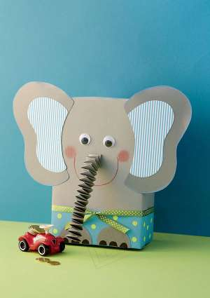 Ideal Brico Juniors 3-6 ans - creation elephant en papier