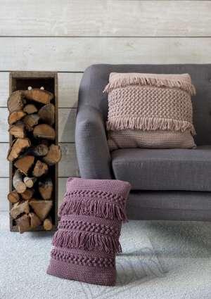 modèle crochet coussin automne