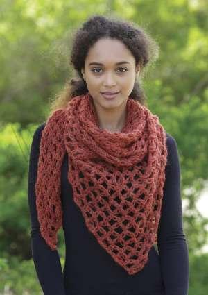 modèle crochet étole automne