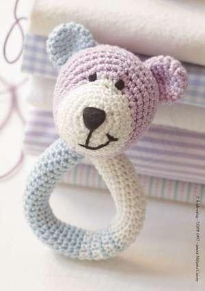 modèle hochet ours en crochet