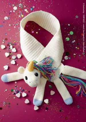 modèle tricot crochet licorne