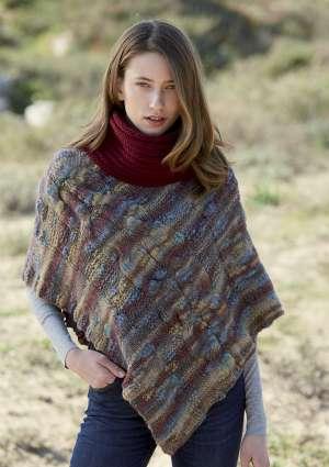 modèle poncho tricot