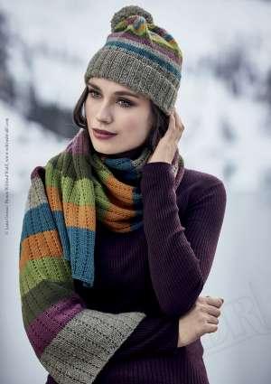 tricot d'écharpe et de bonnet en laine
