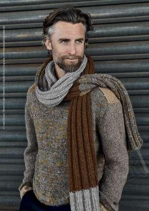 tricot écharpe en laine pour homme