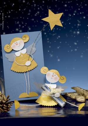 création d'anges en papier