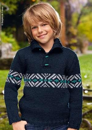 tricot junior gilet garçon laine