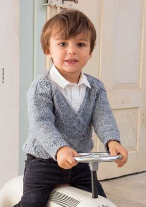 ideal tricot juniors 22 pull laine