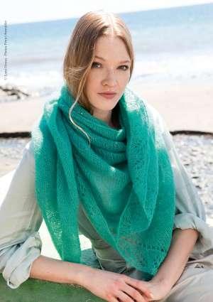 ideal tricot etole verte laine femme