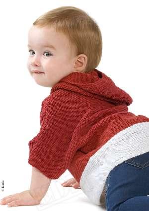 gilet tricot enfant bicolore