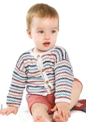 gilet multicolore tricot enfant