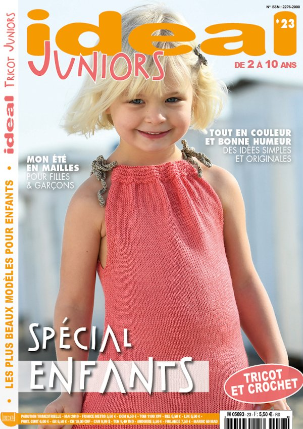 couverture ideal tricot juniors n° 23