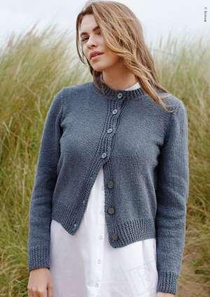modèle pull bleu tricot