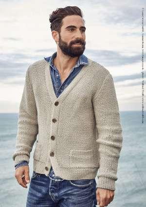 gilet homme à tricoter