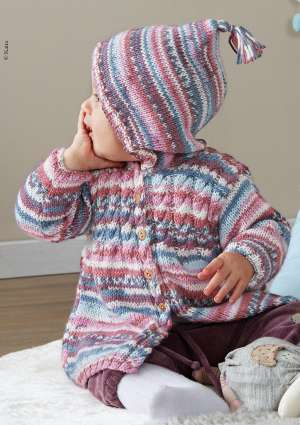 ideal layette tricot laine gilet
