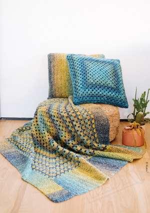 couverture coussin laine