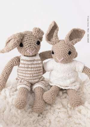 laine tricot doudou lapin