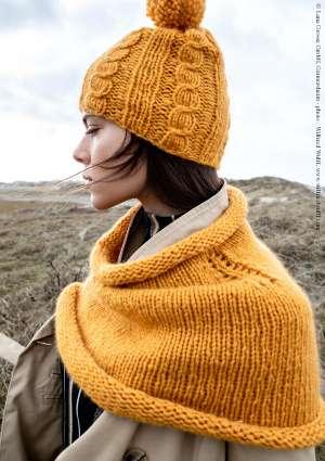 tricot femme laine bonnet echarpe
