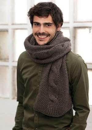 modèle tricot écharpe laine torsade