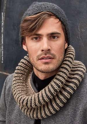 modèle tricot tour du cou snood