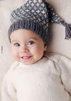modèle tricot bonnet bébé