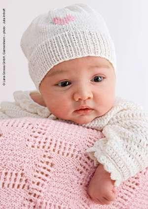 modèle tricot bonnet et couverture bébé