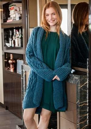 modèle tricot gilet cosy