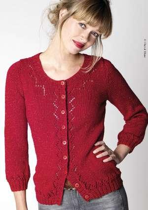 tricot femme gilet rouge léger