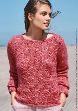 tricot pull léger femme rose