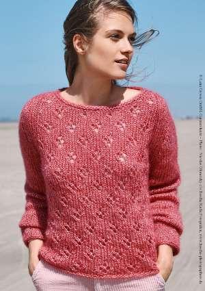 tricot pull léger femme rose