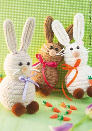 lapins de pâques en laine