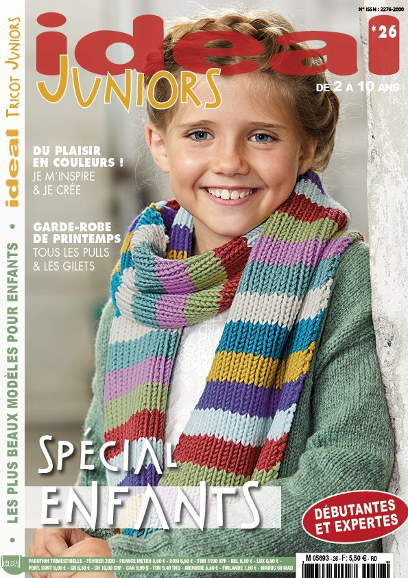 couverture ideal tricot juniors spécial printemps