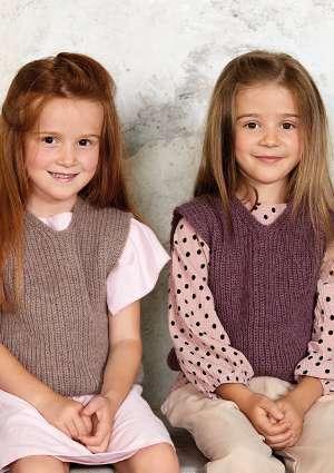 pull filles tricot laine mauve
