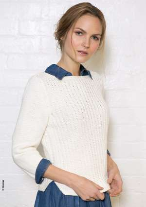 tricot pull blanc