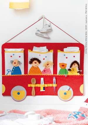 couture patch rangement pour enfants bus