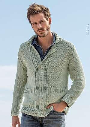 gilet en laine crochet homme