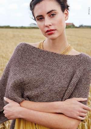 modèle tricot poncho
