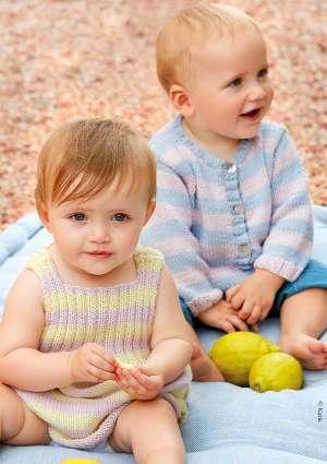 modèles robe et gilet tricot bébé