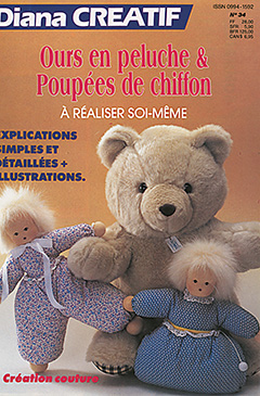 diana créatif ours en peluche et poupées de chiffon