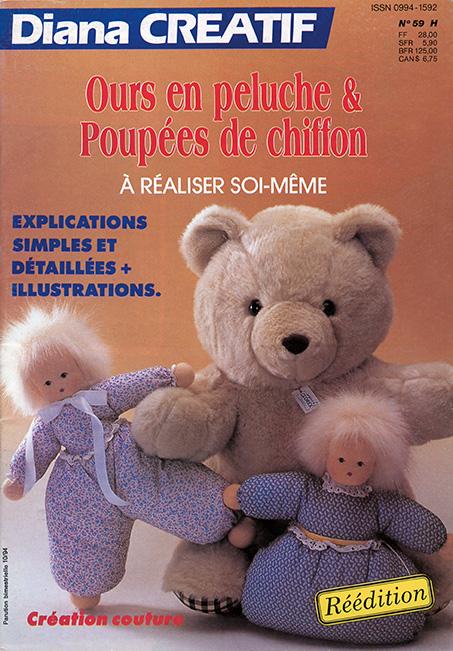couverture diana créatif ours en peluche et poupées en chiffon