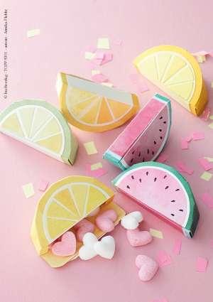 bricolage fruit papier