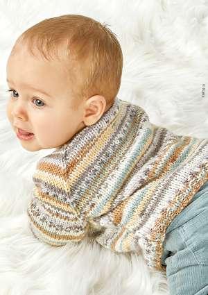 layette tricot pour enfant pull à motifs
