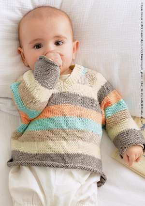 layette enfant pull rayé tricot