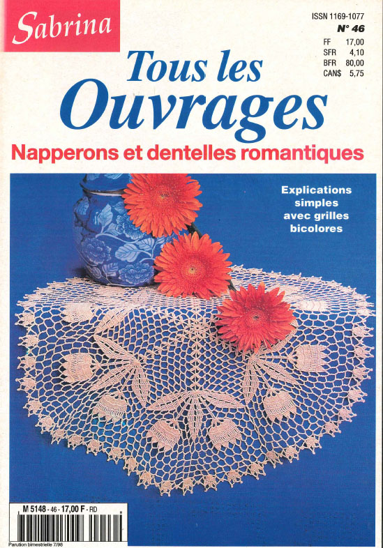 sabrina ouvrages napperons et dentelles romantiques
