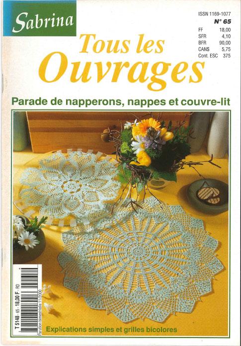Sabrina ouvrages parade de napperons, nappes et couvre-lit